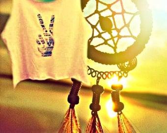 Aztec Peace Crop Top
