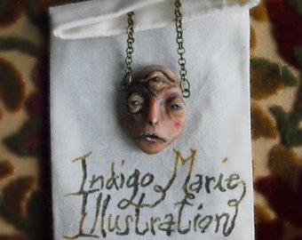 Third Eye Opening Sculpted Creature Pendant Necklace MADE TO ORDER