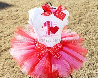 My First Valentine's Day Tutu Set