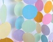 Birthday Party Paper Garland - Pastel Rainbow