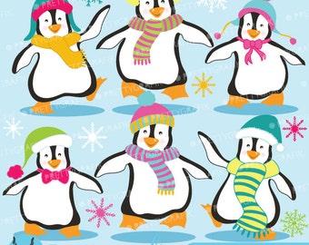 80% 0FF SALE Penguins clipart commercial use, vector graphics, digital clip art, digital images  - CL587