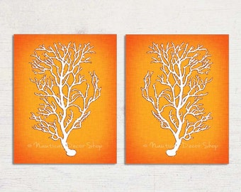 Delicieux Orange Wall Art, Orange Coral, Orange Sea Coral, Tangerine Orange, Modern  Wall