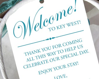 Set of 10 - Gift Tags for Wedding Hotel Welcome Bag - Destination Wedding Tags