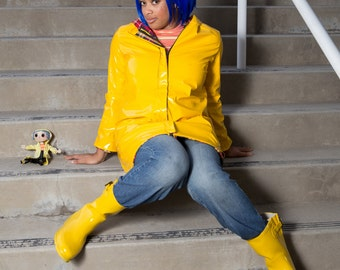 Coraline Costume - Halloween Cosplay - Button Eyes - Creepy doll - Other Mother