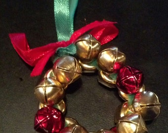 Jingle Bell Wreath Ornaments