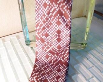 Pierre Cardin Brown Silk Tie Mocha 1960s Mad Men