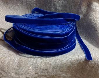 cobalt blue velvet ribbon