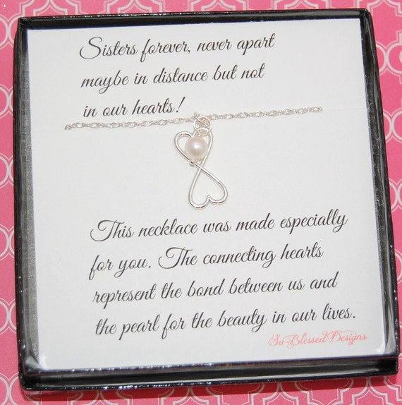 List Of Wedding Gifts For Sister : SISTER necklace, wedding gift, Sisters jewelry, POEM for Sisters ...