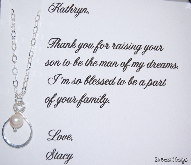 Thank You For Raising The Man Of My Dreams Card With Necklace