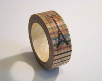Washi Tape Roll - Retro Travel, Cute & Funky Scrapbooking Sticker 15mm x 10m