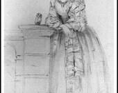 Art Print Florence Nightingale and Owl Athena 1855 - Print 8 x 10