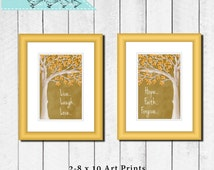 8 x 10 Printable Art Print, Live laugh love,Fall,Tree, Digital download, instant download, Home decor, Poster