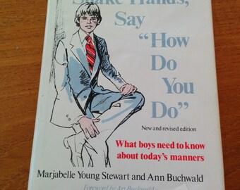Vintage Teen Boys' Etiquette Book Hardcover 1970s