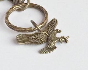 Antique Bronze Eagle Key Chain Bag Charm KC42