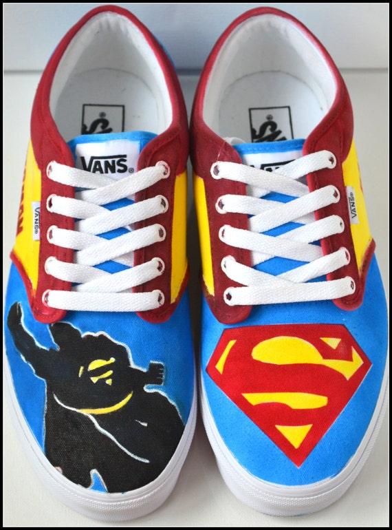 Superman Converse Tennis Shoes