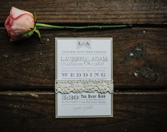 Vintage Wedding Invitation // Elegant and Timeless // Purchase this Listing to Get Started