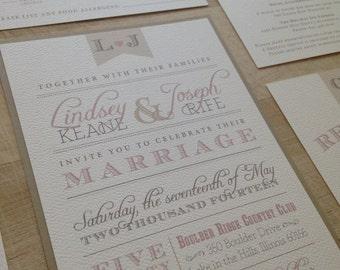 Elegant Barn Vintage Wedding Invitation //  Purchase this Listing to Get Started