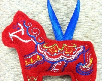 Swedish Dala Horse Ornament