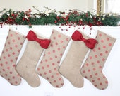 Personalized Christmas Stocking - Unique Christmas Gift and decor - Made of Burlap