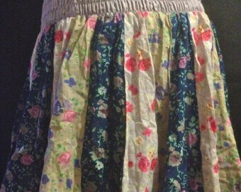 Pretty Hippy Chic Floral Short Skirt