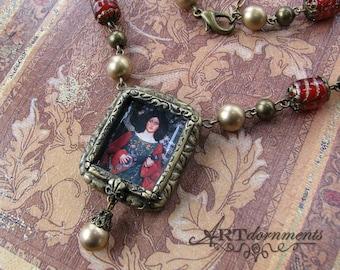 Unique Renaissance Woman Victorian Romantic Jewelry Handmade Art Necklace Set