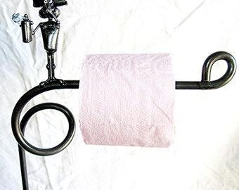 toilettenpapier stehen mit maus spritzen deodorant stand allein toilettenpapierhalter aus recycling stahl gefertigt - Diy Toilettenpapierhalter Stand