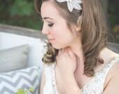 Crystal Flower Shaped Headpiece - Wedding Headpiece, Bridal, Rhinestone Headband - Yvette Headpiece