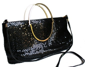 Black Chainmaille Purse Vintage 80s Disco