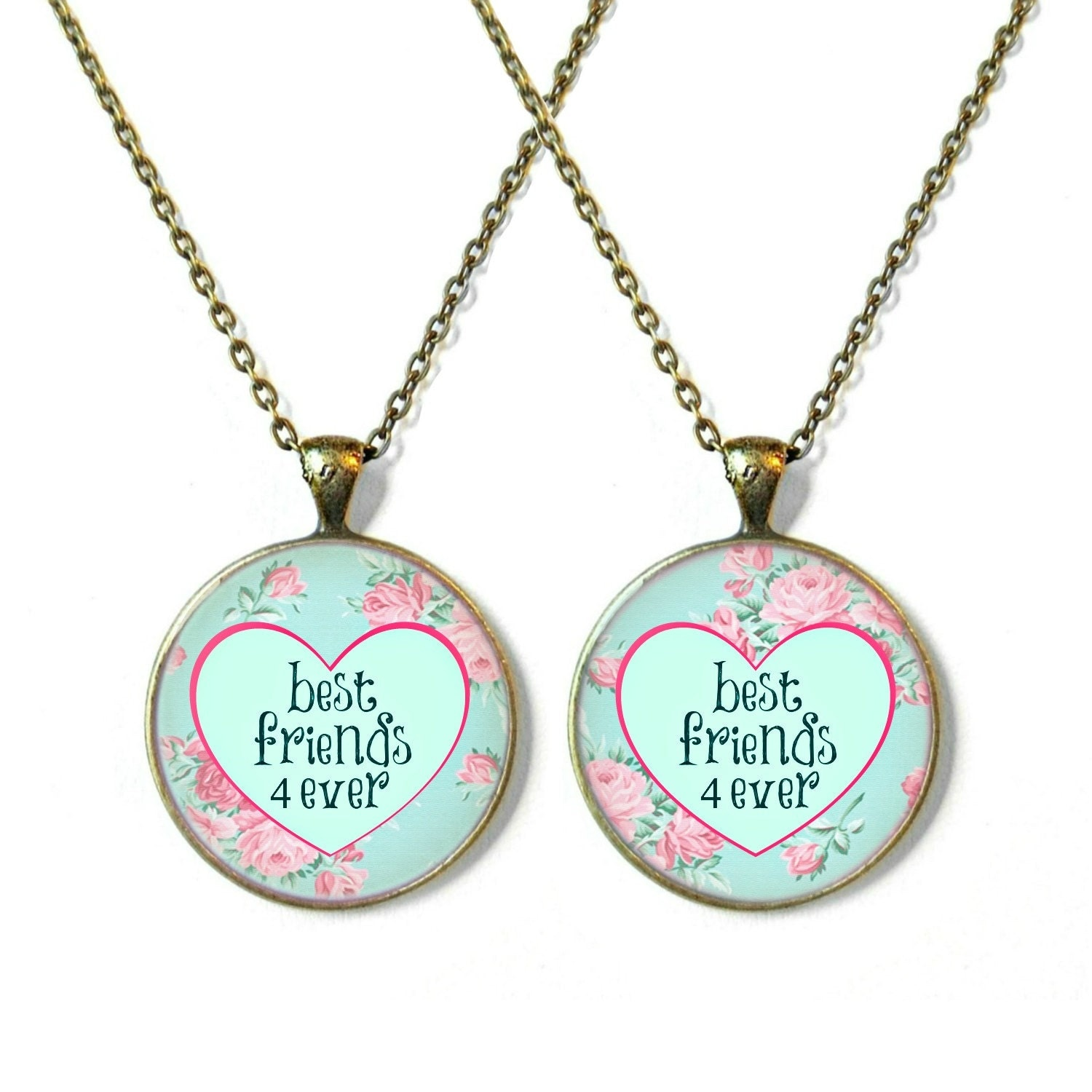 best friends 4 necklaces matching best friend by