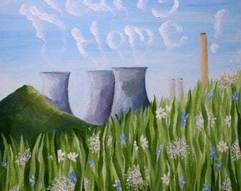Nearly Home; Giclee print of Didcot Power Station