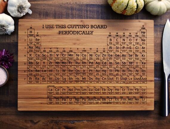 Periodic table cutting board graduation gift by elysiumwoodworks - Periodic table chopping board ...