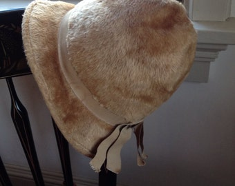 Felted Wool Camel Gwenn Penninton Hat from the 1960s