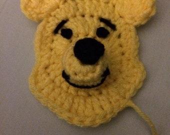 Winnie the Pooh crochet applique pattern