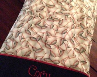 Personalized Baseball Print Pillowcases STANDARD SIZE