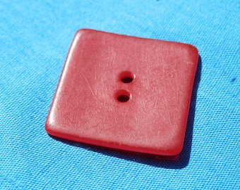 Vintage Red  Square Button
