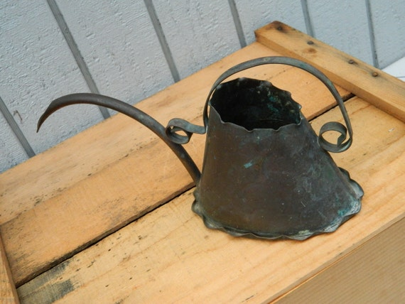 Vintage copper watering can with unique design artisan - Unusual watering cans ...