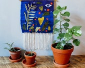 "Woven Wall Hanging - Tapestry - ""Observing Growth"""