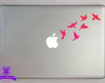 Small Flock of Birds in Flight Macbook Laptop Decal