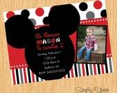Printable Mickey Mouse Invitation