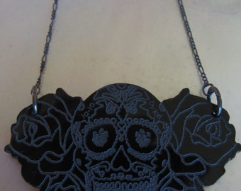 Skull & Rose Necklace