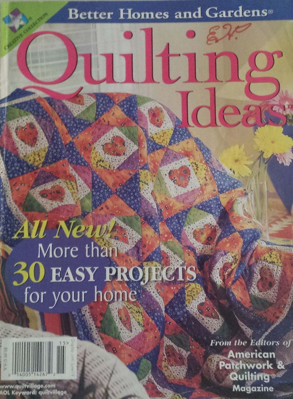 items similar to quilting ideas magazine better homes. Black Bedroom Furniture Sets. Home Design Ideas