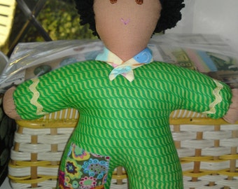 Hand made Pipsqueak Patchie rag doll Liam