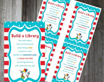 Build a Library cards - Dr. Seuss  - Instant Download & Printable