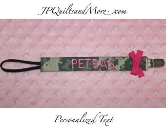 Custom Military Pacifier Clip - Army, Marines, Airforce