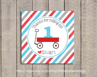 Red Wagon Birthday Favor Tags / Red Wagon Favor Tags / Little Red Wagon Favor Tags / Red Wagon Party / Little Red Wagon Decoration