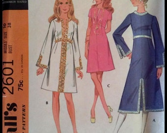 McCall's 2601  Misses' Dress in three versions  Size  16  UNCUT