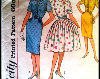 Simplicity 4425  Misses' One Piece Dress With Two Skirts  Bust 32""