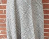 Vintage Gray Plaid Skirt ...