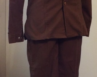 Vintage Brown Corduroy Suit by JC Penney