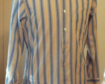 Vintage Long Sleeve Button Down Shirt by Bon Ton